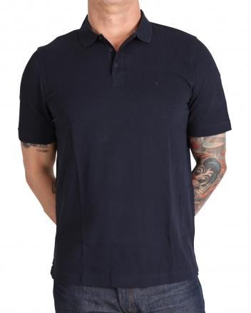 MARVELiS 6411-32-18 Pique Polo T-Shirt uni halbarm marine 48/S