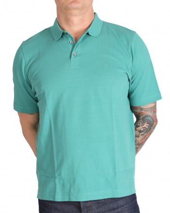 MARVELiS 6411-32-49 Pique Polo T-Shirt uni halbarm dunkelgrün 48/S