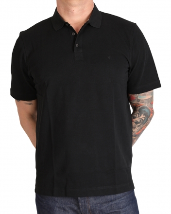 MARVELiS 6411-32-68 Pique Polo T-Shirt uni halbarm schwarz 48/S