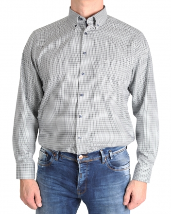 MARVELiS-Hemd 7254-44-45 MODERN-FIT Button-Down grün langarm 38