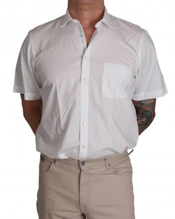 MARVELiS Freizeithemd 6088-52-00 uni weiß halbarm