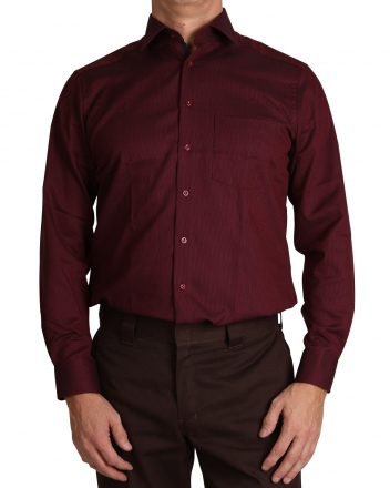MARVELiS-Hemd 7216-64-37 MODERN-FIT New-Kent bordeaux langarm