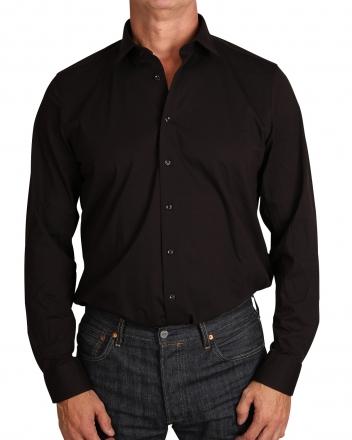 MARVELiS Jerseyhemd Modern Fit 7262-84-68 schwarz langarm 38