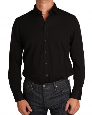 MARVELiS Jerseyhemd Modern Fit 7264-84-68 schwarz Strukturiert 38