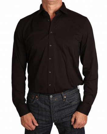 MARVELiS Body Fit Jerseyhemd 7562-84-68 langarm schwarz 38