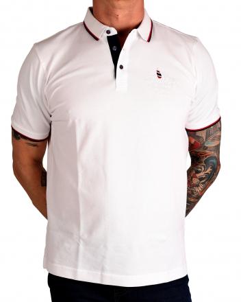 MARVELiS 6427-72-00 Pique Polo T-Shirt halbarm weiß 50/M