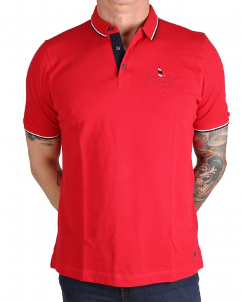 MARVELiS 6427-72-05 Pique Polo T-Shirt halbarm lackrot 50/M