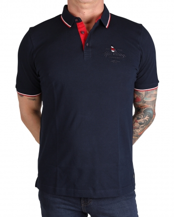 MARVELiS 6427-72-18 Pique Polo T-Shirt halbarm marine 50/M