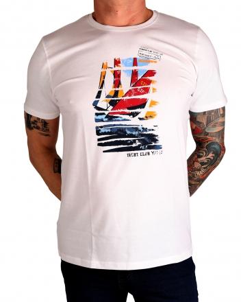 MARVELiS Herren T-Shirt 6636-72-00 R-A bedruckt weiß