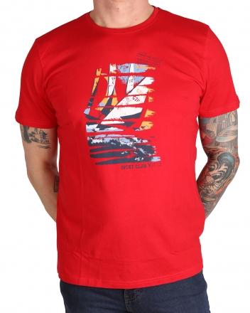MARVELiS Herren T-Shirt 6636-72-05 R-A bedruckt lackrot 50/M