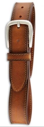 Götz Walkledergürtel 351770 3,5 cm breit cognac 80