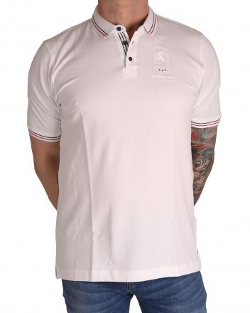 MARVELiS 6431-52-00 Pique Polo T-Shirt halbarm weiß