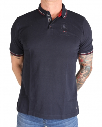 MARVELiS 6431-52-18 Pique Polo T-Shirt halbarm marine