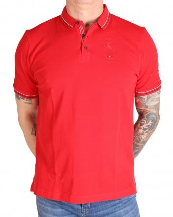 MARVELiS 6431-52-35 Pique Polo T-Shirt halbarm rot