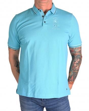 MARVELiS 6431-52-85 Pique Polo T-Shirt halbarm aqua