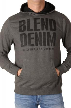 BLEND Herren Kapuzensweatshirt 20702047-75112 Raven Grey 48/S