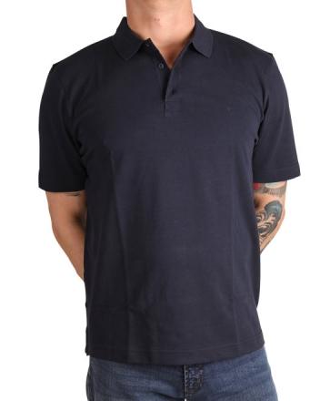 MARVELiS 6430-52-18 Pique Polo T-Shirt uni halbarm marine