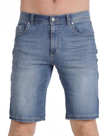 PIONEER Megaflex Jeans Denim Stretch-Bermuda 1351-9766-354 Stoneused