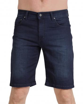 PIONEER Megaflex Jeans Stretch-Bermuda 1351-9803-06 dunkelblau Used