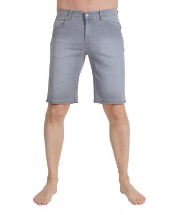 PIONEER Megaflex Jeans Stretch-Bermuda 1351-9810-06 hellblau Used