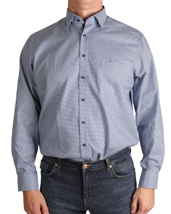 MARVELiS-Hemd 7210-44-18 MODERN-FIT Under Button Down marine langarm