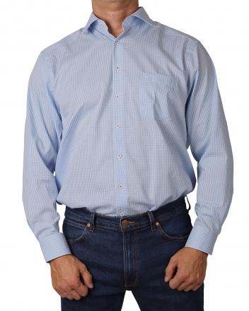 MARVELiS-Hemd 7012-24-11 COMFORT-FIT blue langarm