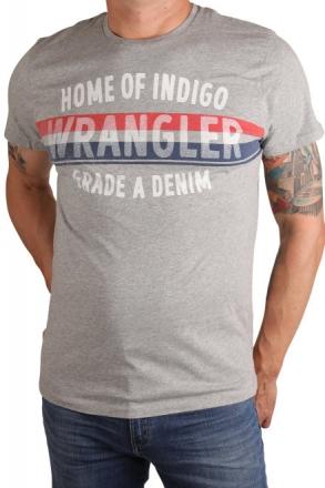 Wrangler W7A52FK37 Herren T-Shirt Druck Mid Grey Mel 48/S