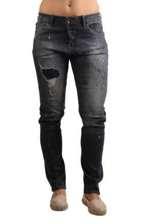 Garcia Damen Stretch-Jeans LUISA C70111-2237 Tapered Leg Painted Flower