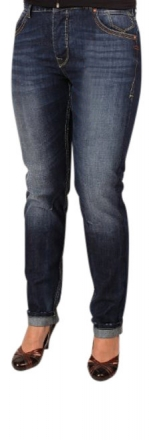 FUGA Damen Boyfriend-Jeans D5024-511 dark-worn-indigo