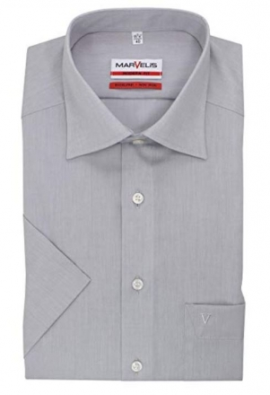MARVELiS-Hemd MODERN-FIT (Slim-Fit) halbarm 4704-12-60 lightgrey