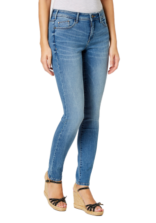 Paddocks Damen Slim Jeans LUCY mid blue stone washed 5918