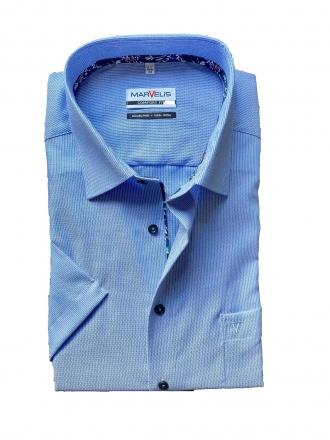 MARVELiS-Hemd 7009-72-15 COMFORT-FIT halbarm blau