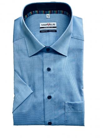 MARVELiS-Hemd 7017-52-15 COMFORT-FIT halbarm blau 40