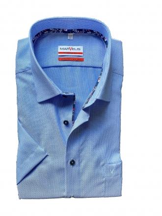MARVELiS-Hemd 7209-72-15 Modern-FIT halbarm blau 39