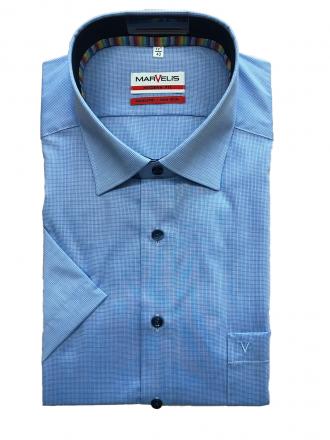 MARVELiS-Hemd 7217-52-15 Modern-FIT halbarm blau 39