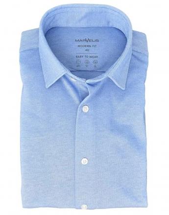 MARVELiS Jerseyhemd Modern Fit 7264-84-10 hellblau Strukturiert