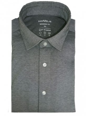 MARVELiS Jerseyhemd Modern Fit 7264-84-62 grau Strukturiert