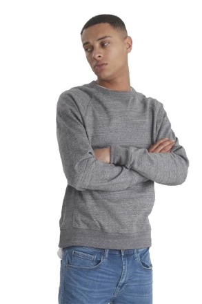 BLEND Herren Sweatshirt R-A uni 20706979-70817 Grau 50/M