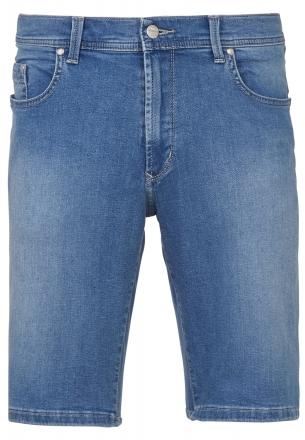 PIONEER Megaflex Jeans Denim Stretch-Bermuda 1351-9759-18 bleach used