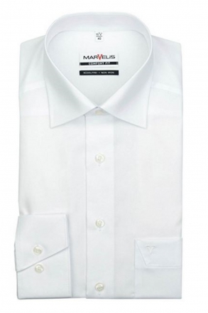MARVELiS-Hemd 7970-64-00 weiß langarm Comfort-Fit