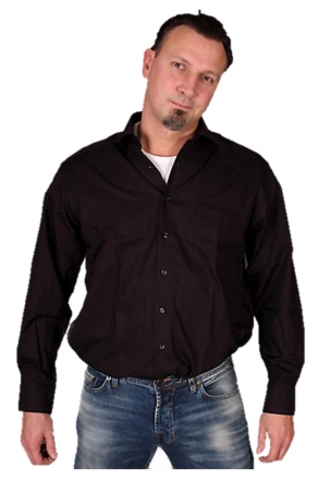 MARVELiS-Hemd 7973-64-68 schwarz langarm New-Kent-Kragen 100% Baumwolle schwarz | 43