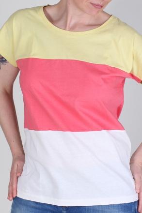 BlendShe 4036-073 Damen Bigshirt ang.Arm 3-farbig