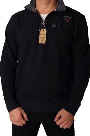 MARVELiS Herren Zip-Sweatshirt 2697-64-14 nachtblau