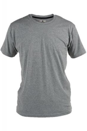 Rockford KS1600 T-Shirt uni grau Rundhals in Übergrößen