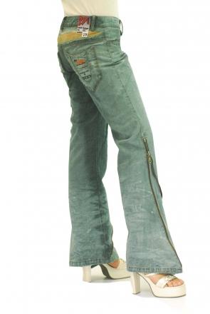 BUCK`s - LOHAS BJ76 Limited No.15 Öko Röhren/Schlag Jeans 29/31 blue -Miss twy-