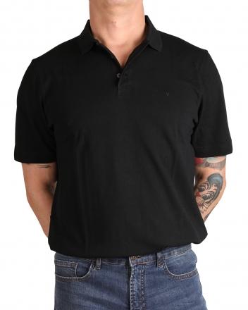 MARVELiS 6417-72-68 Pique Polo T-Shirt uni halbarm schwarz 50/M