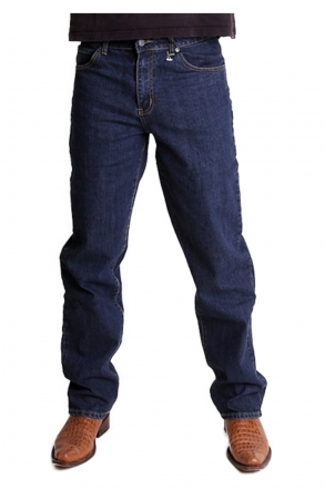 BUCK`s BJ27 Stretch-Jeans dark-blue-rinsed Seattle