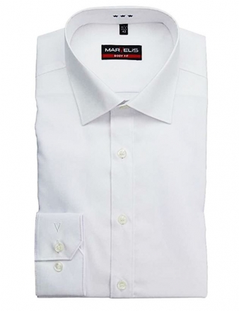 MARVELiS-Hemd 6799-64-00 BODY-FIT langarm weiß 100% BW weiss | 38
