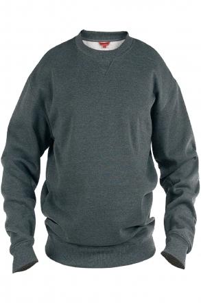 Rockford KS1616 Sweatshirt uni anthrazit Rundhals in Übergrößen