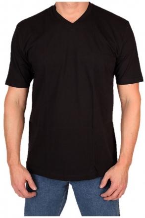 MARVELiS 2817 Premium T-Shirt schwarz V-Ausschnitt